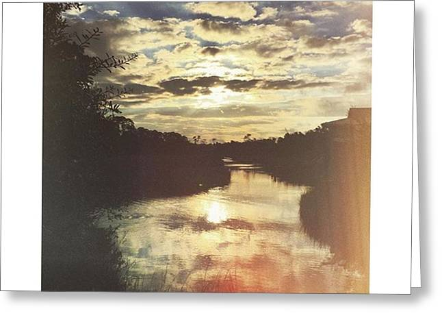 Weeks Bayou Sunrise #sky #sunrise Greeting Card