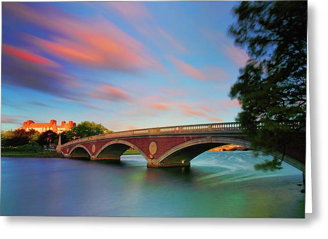Weeks' Bridge Greeting Card by Rick Berk