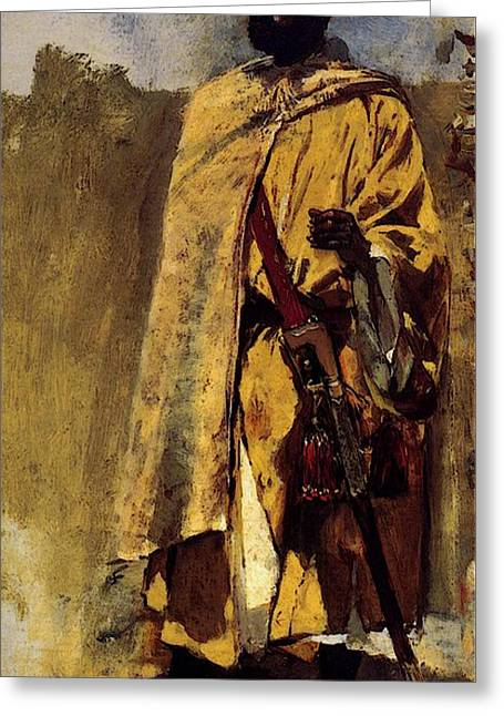 Weeks Edwin Moorish Guard Greeting Card