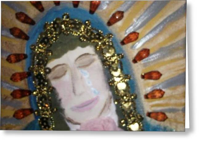 Weeping  Lady Of Guadalupe Greeting Card by Seaux-N-Seau Soileau