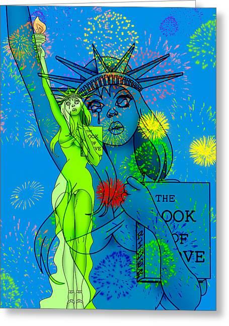Weeping Liberty Greeting Card by Lynn Rider