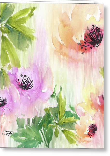 Greeting Card featuring the painting Weeping Rose Forest by Colleen Taylor