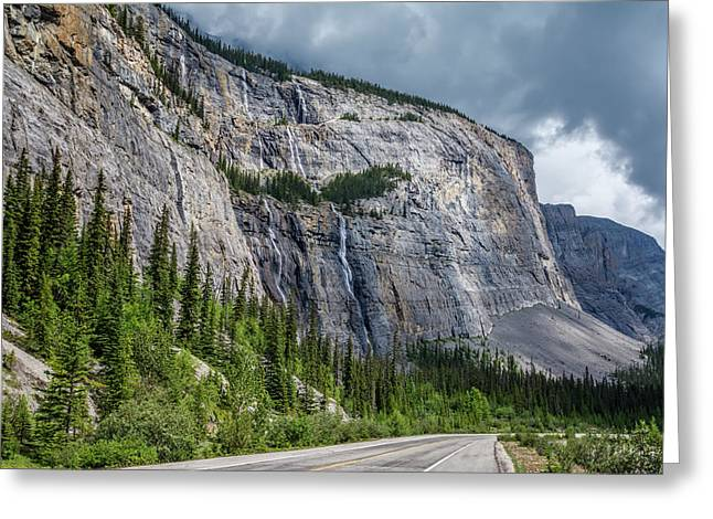 Weeping Wall Banff National Park Greeting Card by Joan Carroll