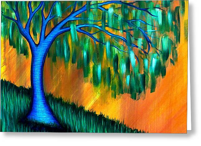 Weeping Willow Greeting Card by Brenda Higginson