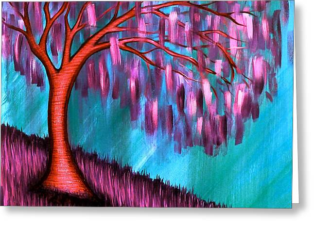 Weeping Willow II Greeting Card by Brenda Higginson