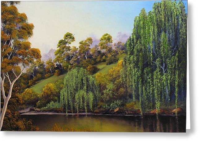 Weeping Willow Greeting Card by John Cocoris