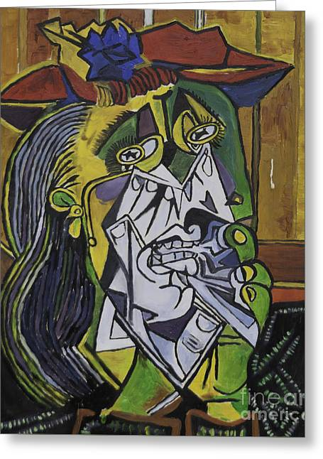 Picasso's Weeping Woman Greeting Card