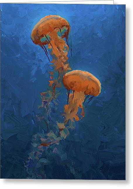Weightless - Pacific Nettle Jellyfish Study  Greeting Card