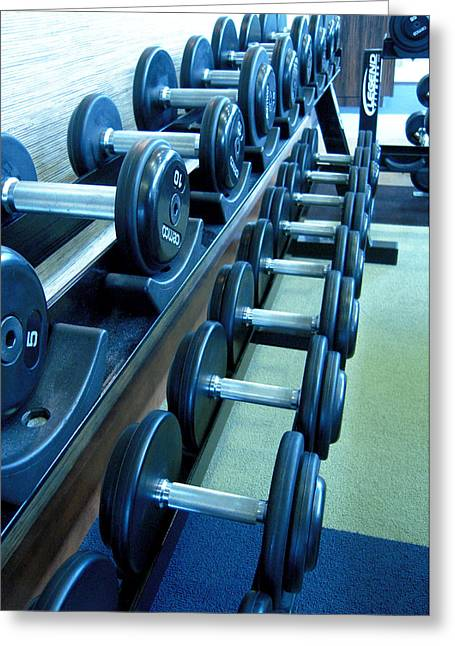 Weights Vertical Greeting Card