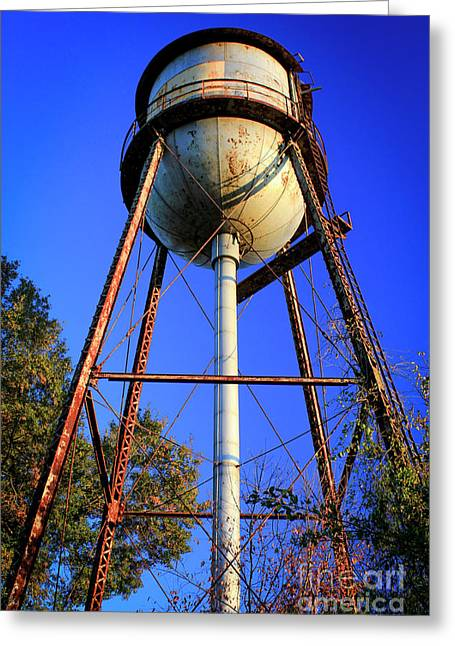 Greeting Card featuring the photograph Weighty Water Cotton Mill  Water Tower Art by Reid Callaway