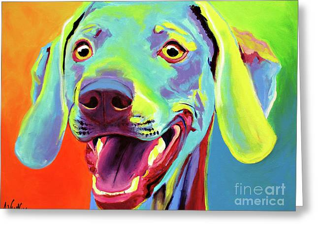 Weimaraner - Taffy Greeting Card by Alicia VanNoy Call