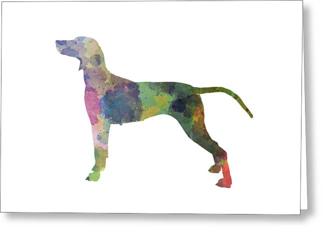 Weimaraner In Watercolor Greeting Card by Pablo Romero