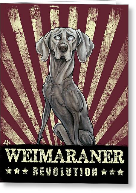 Weimaraner Revolution Greeting Card