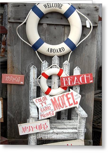 Welcome Aboard Greeting Card by Joyce StJames
