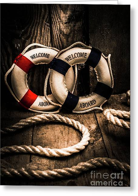 Welcome Aboard The Dark Cruise Line Greeting Card