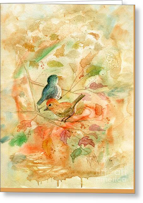 Welcome Autumn Greeting Card by Marilyn Smith