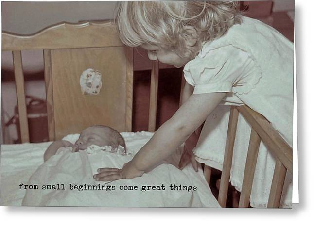 Welcome Baby Quote Greeting Card by JAMART Photography