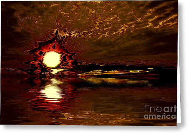 Welcome Beach Sunset 2 Series 1 Greeting Card