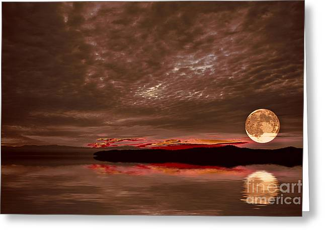 Welcome Beach Supermoon Greeting Card