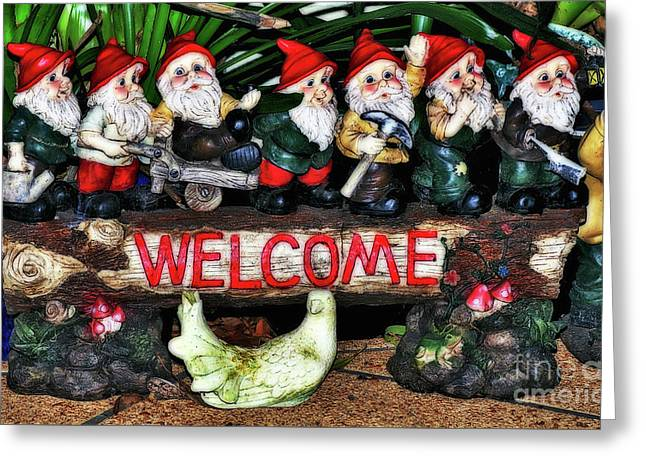Welcome From The Seven Dwarfs Greeting Card