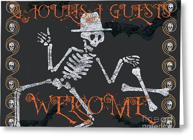 Welcome Ghoulish Guests Greeting Card