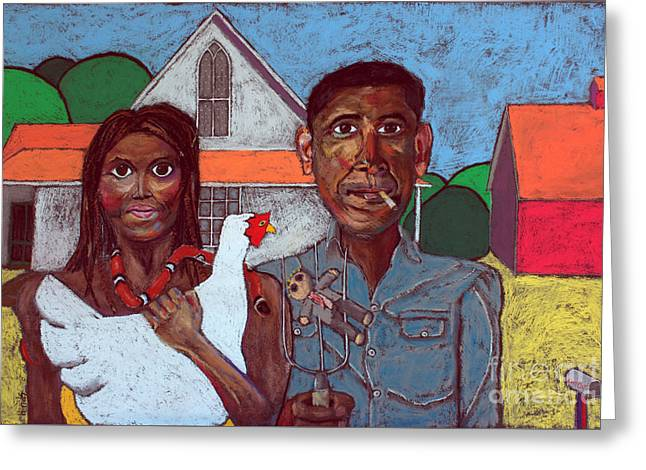 Welcome Home America Greeting Card by David Hinds