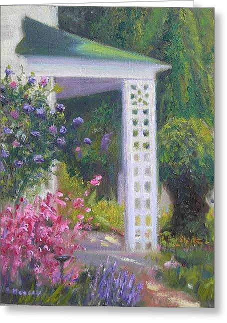 Welcome Home Greeting Card by Sharon Morley