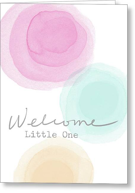 Welcome Little One- Art By Linda Woods Greeting Card