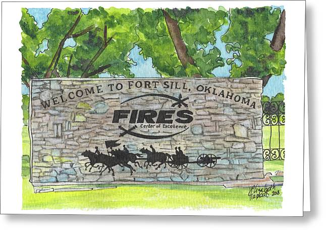 Welcome Sign Fort Sill Greeting Card