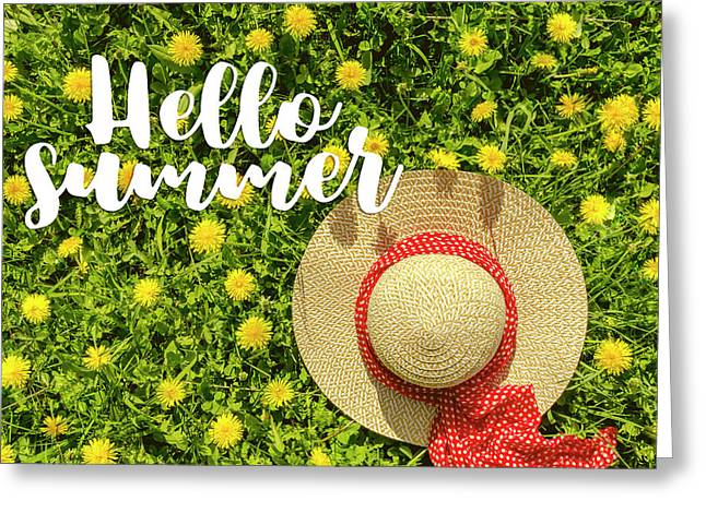 Greeting Card featuring the photograph Welcome Summer by Teri Virbickis