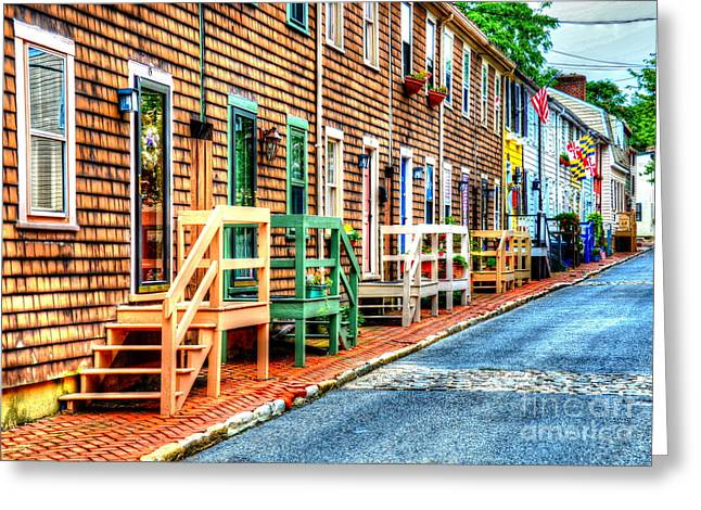 Welcome To Annapolis Greeting Card by Debbi Granruth