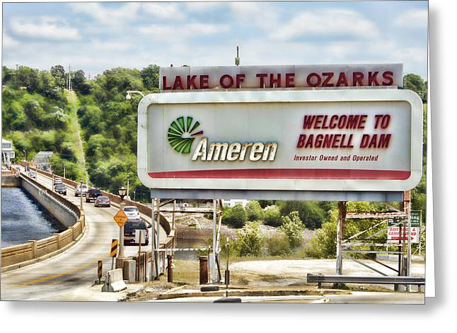 Welcome To Bagnell Dam Greeting Card