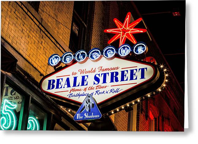 Welcome To Beale Street Greeting Card by Stephen Stookey