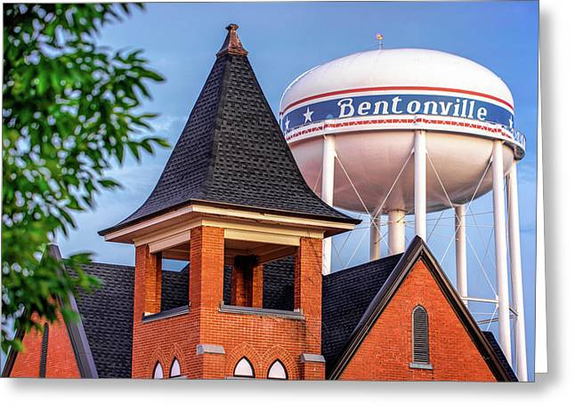 Welcome To Bentonville Arkansas Greeting Card by Gregory Ballos
