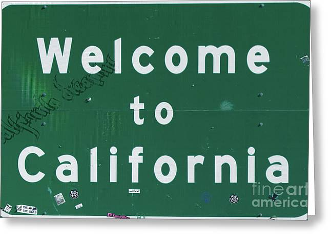 Welcome To California Greeting Card by Mindy Sommers