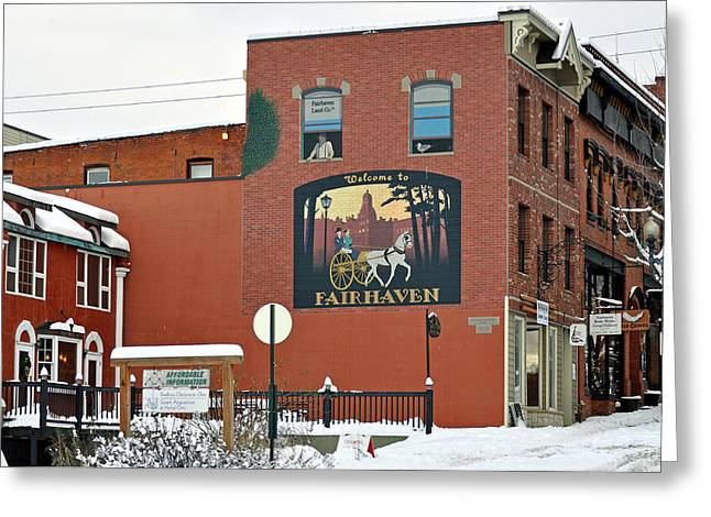 Welcome To Fairhaven Greeting Card by Matthew Adair