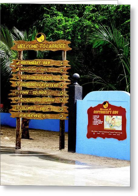 Welcome To Labadee Greeting Card