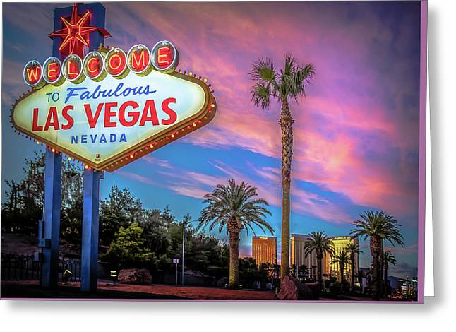 Welcome To Las Vegas Greeting Card