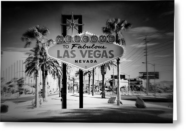 Welcome To Las Vegas Series Holga Infrared Greeting Card by Ricky Barnard
