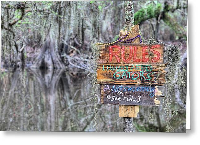 Welcome To Louisiana Greeting Card by JC Findley