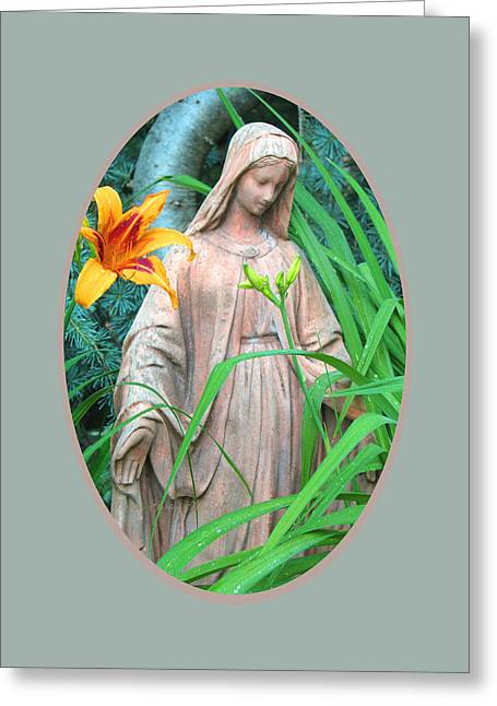Peace Be With You - Images From The Garden Greeting Card by Brooks Garten Hauschild