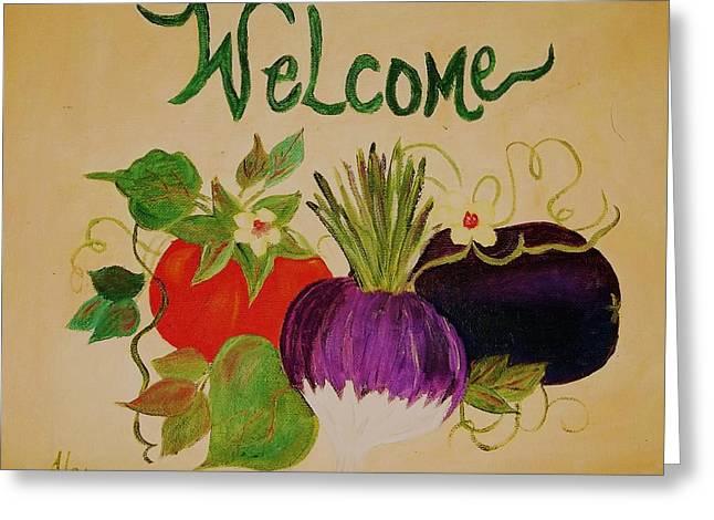 Welcome To My Kitchen Greeting Card by Alanna Hug-McAnnally
