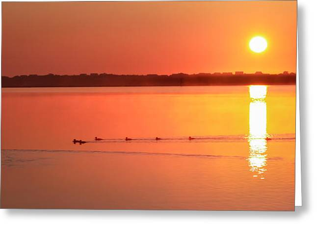 Welcome To My Morning Greeting Card by Karen Wiles