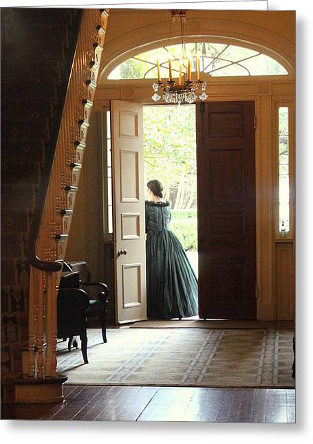 Welcome To Oak Alley Plantation Greeting Card by Anita Hiltz