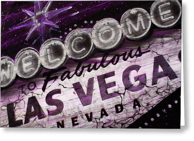 Vegas Baby Greeting Card by Dani Abbott