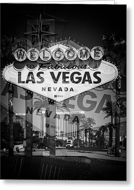 Welcome To Vegas Xiv Greeting Card by Ricky Barnard