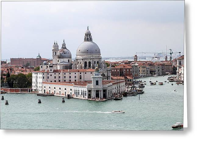 Welcome To Venice Greeting Card by Allan Levin