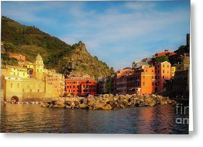 Welcome To Vernazza Greeting Card
