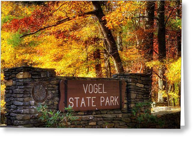 Welcome To Vogel State Park Greeting Card