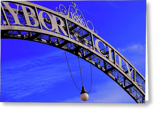 Welcome To Ybor City Greeting Card by Amanda Vouglas